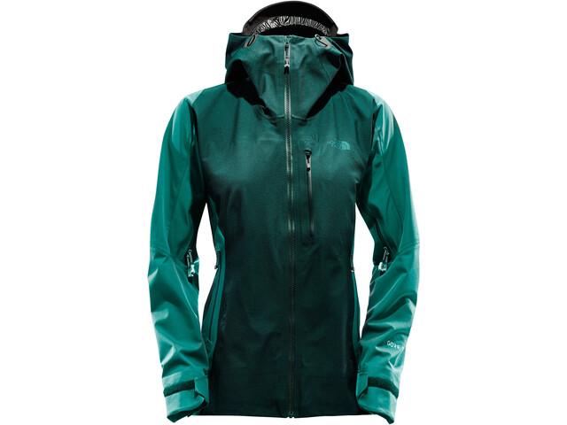The North Face W's Summit Series L5 Shell Jacket TNF Black/Vaporous Green Jacquard